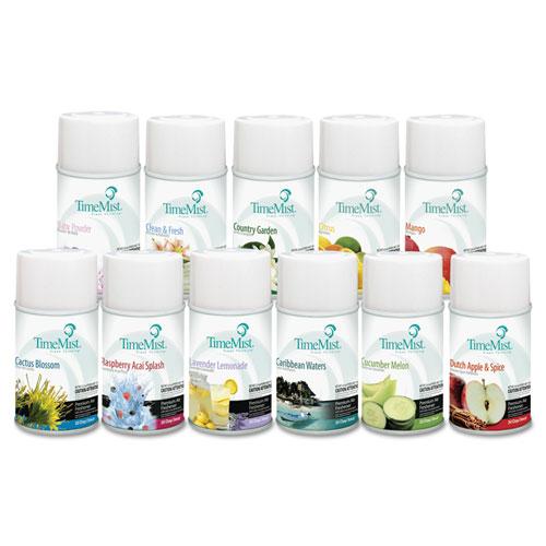 TimeMist® Fragrance Dispenser Refills, Assorted Fragrances, 6.6oz, 12/Carton