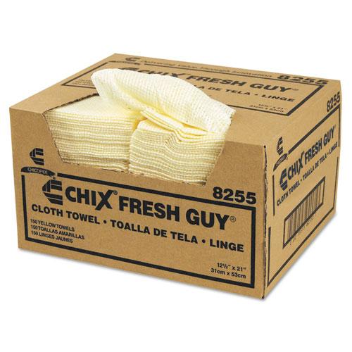 Fresh Guy Towels, 13 1/2 x 13 1/2, Yellow, 150/Carton