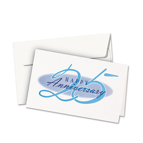 Avery 3378 Textured Half-Fold Greeting Cards, Inkjet, 5 1