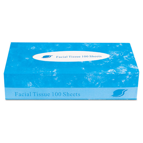 GEN Boxed Facial Tissue, 2-Ply, White, 100 Sheets/Box