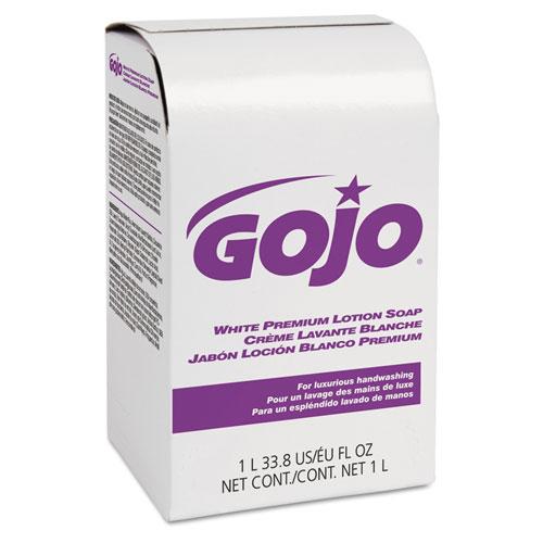 White Premium Lotion Soap, Spring Rain Scent, NXT 1000 mL Refill, 8/Carton