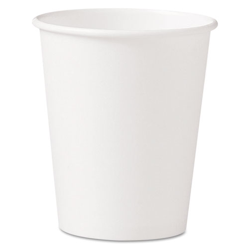 Polycoated Hot Paper Cups, 10 oz, White | by Plexsupply