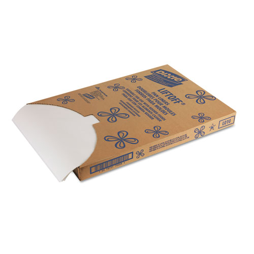 Greaseproof Liftoff Pan Liners, 16 3/8 x 24 3/8, White, 1000 Sheets/Carton