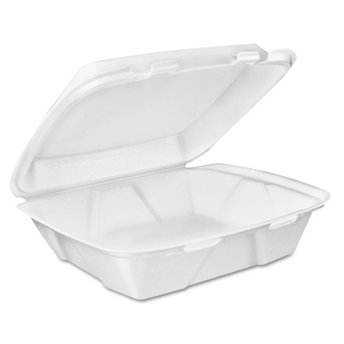 Dart® Carryout Food Containers, White, Foam, 7 4/5 x 8 1/2 x 2 1/2, 200/Carton