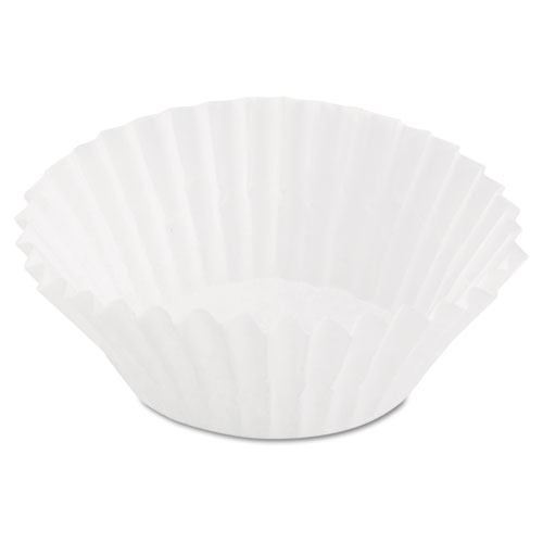 Paper Fluted Baking Mini Cups, Dry-Waxed, 3-1/2, White, 20/Pack 8AAX