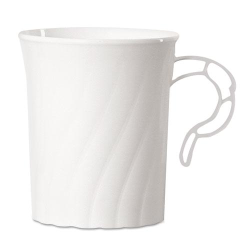 Classicware Plastic Mugs, 8 oz., White, 8/Pack, 24 Pack/Carton CWM8192W