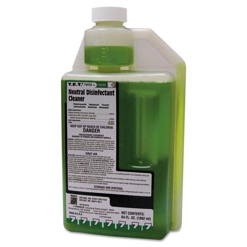 Franklin Cleaning Technology® T.E.T. Neutral Disinfectant Cleaner, Apple Scent, Liquid, 2 qt. Bottle, 4/Carton