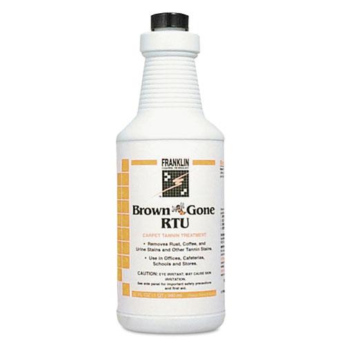 Franklin Cleaning Technology® Brown 'Bee' Gone RTU Carpet Tannin Treatment, Liquid, 1 qt. Flip-Top Bottle