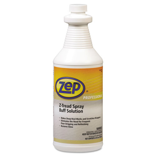 Zep Professional® Z-Tread Buff-Solution Spray, Neutral, 1qt Bottle
