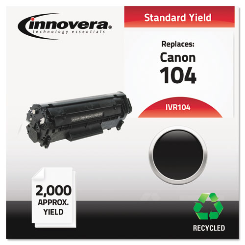 Remanufactured 0263B001AA (104) Toner, 2000 Page-Yield, Black