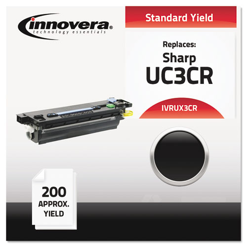 Compatible Black Thermal Transfer Print Cartridge, Replacement for Sharp UX3CR, 100 Page Yield