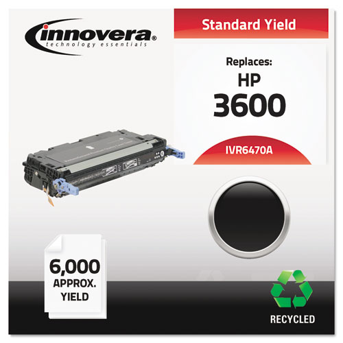 Remanufactured Q6470A (501A) Toner, 6000 Page-Yield, Black | by Plexsupply