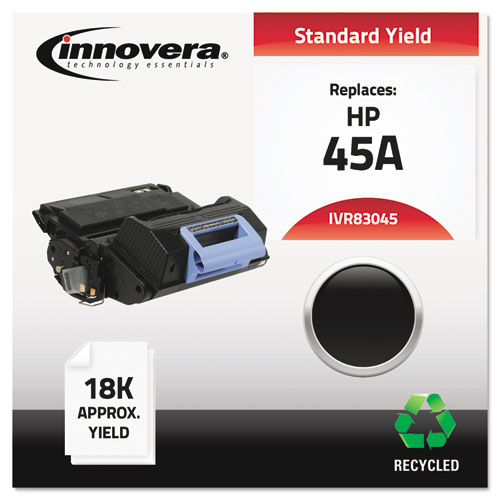 Remanufactured Q5945A (45A) Toner, 18000 Page-Yield, Black | by Plexsupply