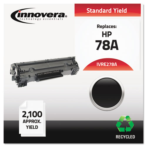 Remanufactured CE278A (78A) Toner, 2100 Page-Yield, Black | by Plexsupply