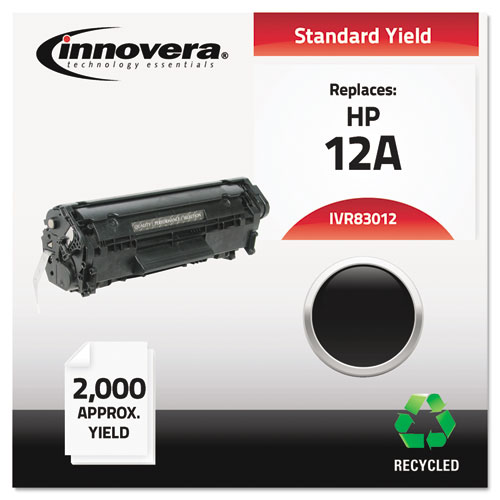 Remanufactured Q2612A (12A) Toner, 2000 Page-Yield, Black | by Plexsupply