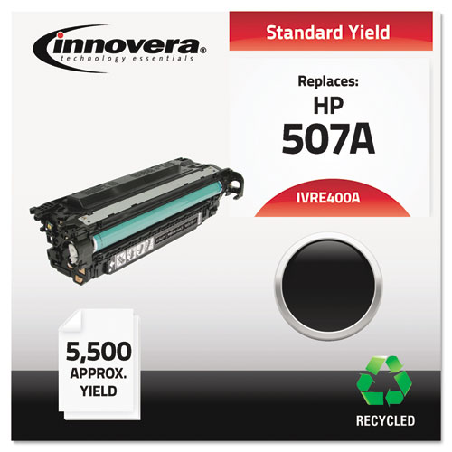Remanufactured CE400A (507A) Toner, 5500 Page-Yield, Black | by Plexsupply
