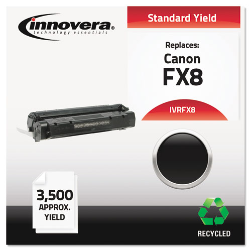 Remanufactured 8955A001AA (FX8) Toner, 3500 Page-Yield, Black