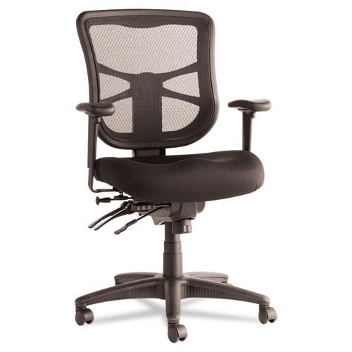 alera elusion series mesh mid back multifunction chair black
