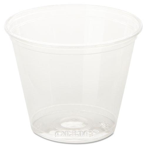 Clear Cold Plastic Cups, 9 oz, Squat CC9K