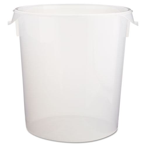 Rubbermaid® Commercial Round Storage Containers, 22qt, 13 1/8dia x 14h, Clear
