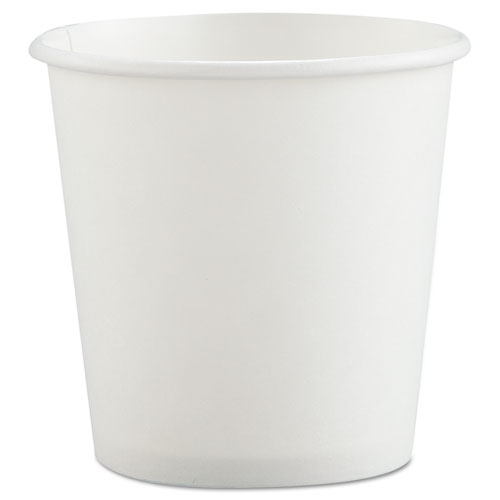 Polycoated Hot Paper Cups, 4 oz, White 374W2050