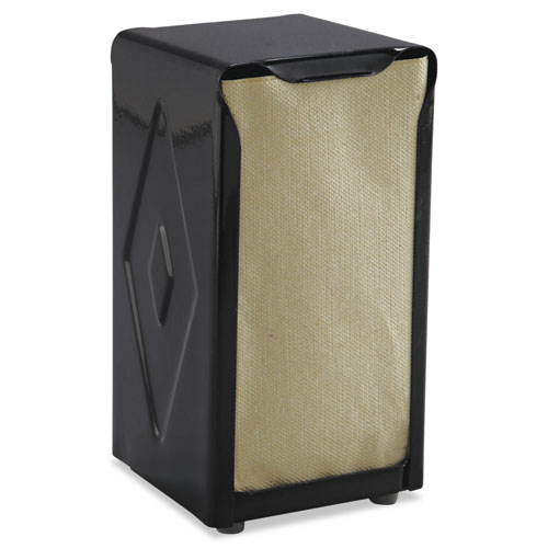 Tabletop Napkin Dispenser, Tall Fold, 3 3/4 x 4 x 7 1/2, Capacity: 150, Black | by Plexsupply