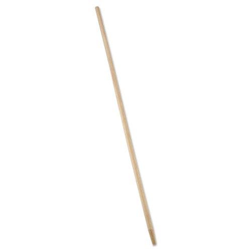Tapered-Tip Wood Broom/Sweep Handle, 60, Natural