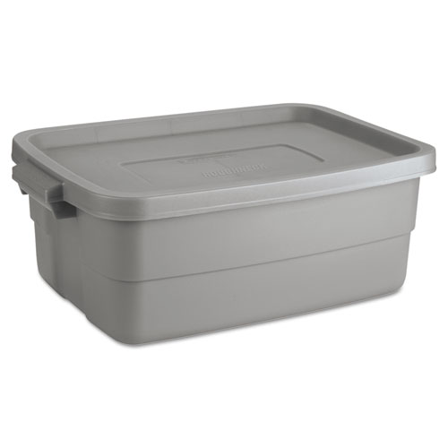 Roughneck Storage Box, 10 gal, Steel Gray