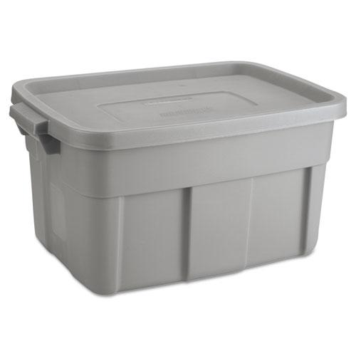 Rubbermaid® Roughneck Storage Box, 14 gal, Steel Gray