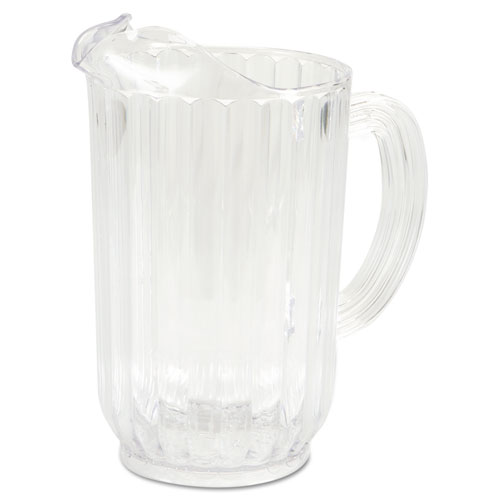 Rubbermaid® Commercial Bouncer Plastic Pitcher, 72 oz, Clear