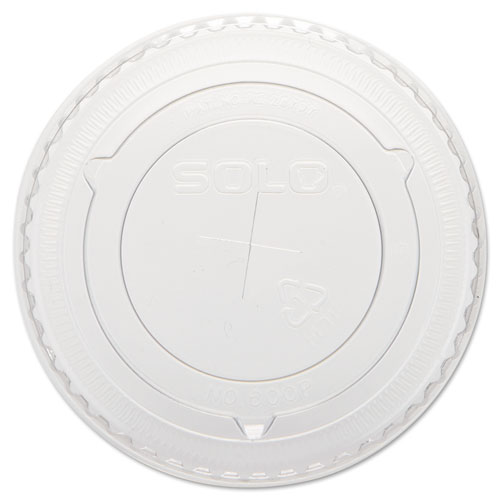Dart® Straw-Slot Cold Cup Lids, 10oz Cups, Clear