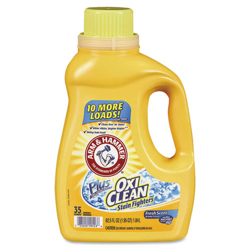 Arm & Hammer™ OxiClean Concentrated Liquid Laundry Detergent, Fresh, 61.25oz Bottle, 6/Carton