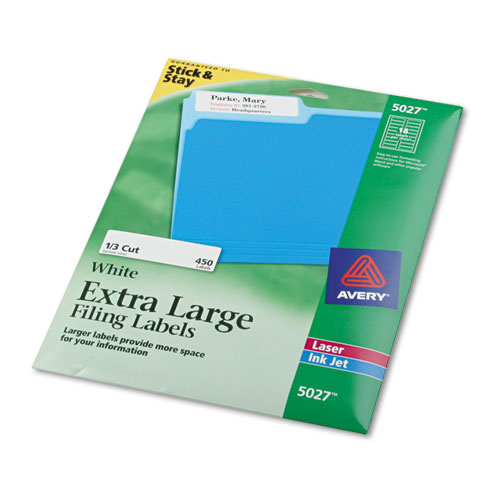 ave5027 avery x large 1 3 cut file folder labels w With avery large labels