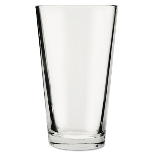 Mixing Glasses, 16oz, Clear, 24/Carton 176FU