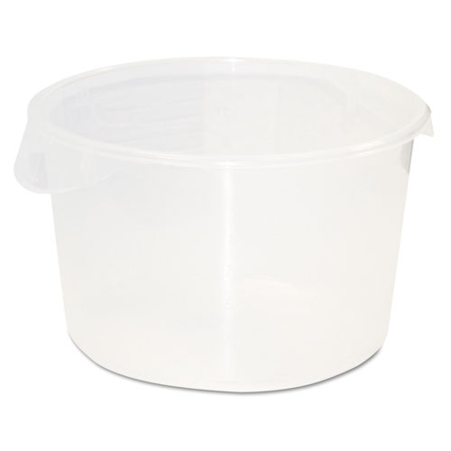 Rubbermaid® Commercial Round Storage Containers, 12qt, 13 1/8dia x 8 1/8h, Clear