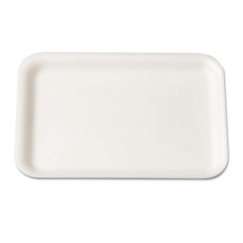 Supermarket Tray, 5.75 x 8.25 x 0.5, White, 125/Bag, 4 Bags/Carton