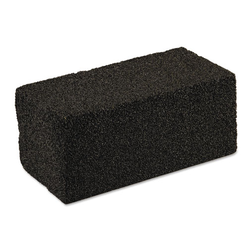 Grill Cleaner, Grill Brick, 4 x 8 x 3.5, Black, 12/Carton