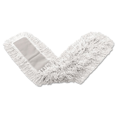 Rubbermaid® Commercial Dust Mop Heads, Kut-A-Way, White, 24 x 5, Cut-End, Cotton