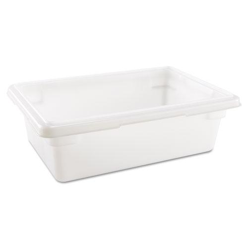 Food/Tote Boxes, 3.5 gal, 18 x 12 x 6, White