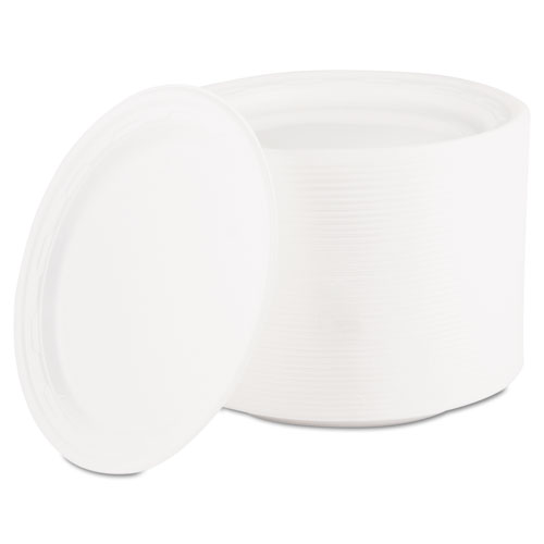 "Dart® Famous Service Plastic Dinnerware, Plate, 6"" dia, White, 125/Pack"