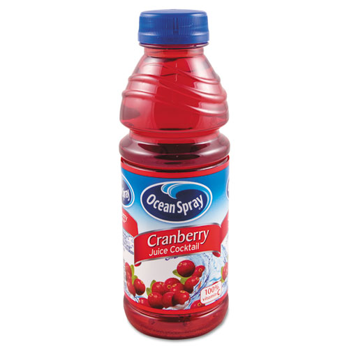 Ocean Spray® 100% Juice, Cranberry, 10oz Bottle, 6/Pack