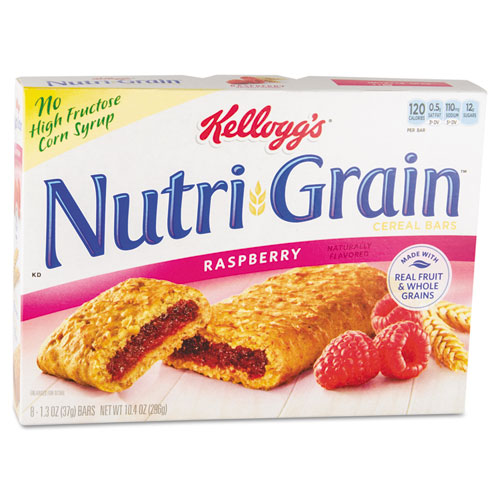 Kellogg's® Nutri-Grain Cereal Bars, Raspberry, Indv Wrapped 1.3oz Bar, 16/Box
