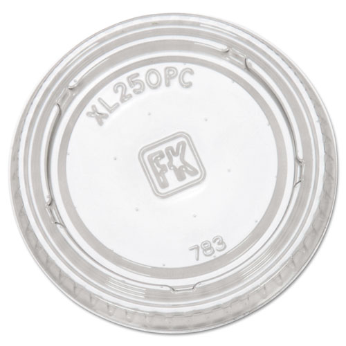 Portion Cup Lids, Fits 1.5-2.5oz Cups, Clear XL250PC