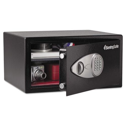 Electronic Lock Security Safe, 1 cu ft, 16.94w x 14.56d x 8.88h, Black | by Plexsupply