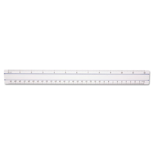 "12"" Magnifying Ruler, Plastic, Clear 