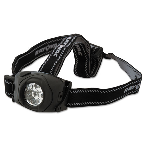 Virtually Indestructible LED Headlight, 3 AAA Batteries (Included), Black