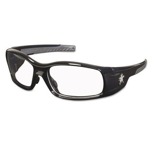 Swagger Safety Glasses, Black Frame, Clear Lens | by Plexsupply