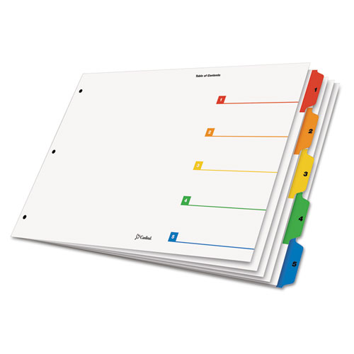 graphic about Printable Table of Contents referred to as Cardinal® OneStep Printable Desk of Contents Dividers, 5