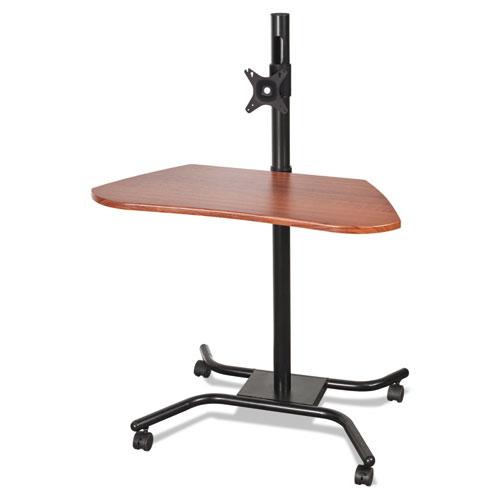 BALT® WOW Flexi-Desk Mobile Workstation, 31-1/2 x 26-1/2 x 46-1/2, Cherry/Black