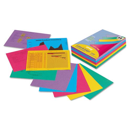 Array Colored Bond Paper, 24lb, 8.5 x 11, Assorted Designer Colors, 500/Ream